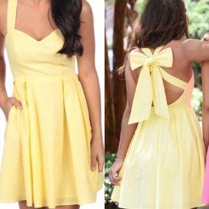 Lauren James Yellow Livingston Dress